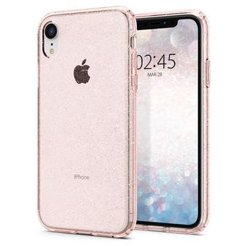 Чехол Spigen для iPhone XR Liquid Crystal Glitter Rose Quartz