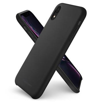 Чехол Spigen для iPhone XR Silicone Fit, Black