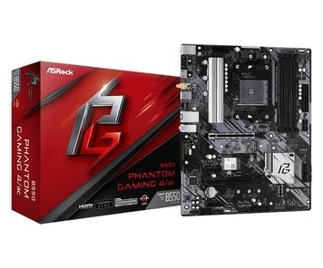Материнская плата ASRock B550 PHANTOM GAMING 4/AC sAM4 B550 4xDDR4 HDMI M.2 802.11ac+BT 4.2 ATX